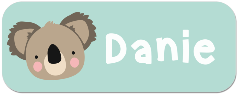 Naamstickers  Koala beertje type Danie
