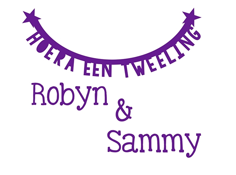 Geboortesticker type Robyn en Sammy