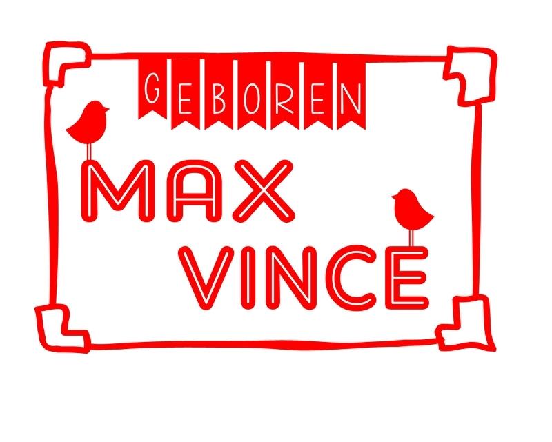 Geboortesticker type Max en Vince