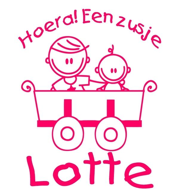 Geboortesticker type Lotte