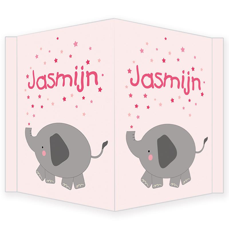 Geboortebord - Geboortebord met een schattig olifantje type Jasmijn