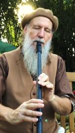 Erik the Flutemaker Low Meditation Whistle van Carbon Fiber