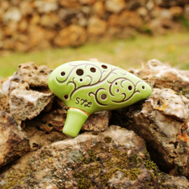 STL Lord of the Rings 'Hobbit' Ocarina - Tenor C - 12 gaten - Keramiek