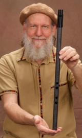 Erik the Flutemaker Deep D Egyptian Whistle in Carbon Fiber