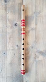 Indiase Bansuri Fluit met Fipple mondstuk (Medium C) - Bamboe - Voor Beginners - Prince Flutes