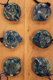 Songstone Ocarina - Celtic Spirals - 4 holes