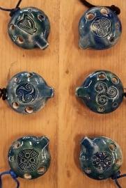 Songstone Ocarina - Celtic Designs - 4 gaten