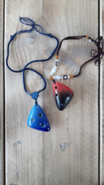 STL Necklace Ocarina - 6 holes - Ceramic