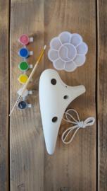 STL DIY Ocarina - Tenor C - 12 holes - Ceramic