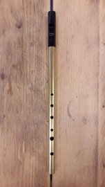 Tony Dixon Trad Brass stembare Tin Whistle (Bb)