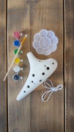 STL DIY Ocarina - Tenor C - 12 holes - Ceramic