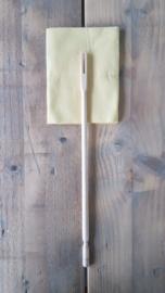 Schoonmaakstok en poetsdoek voor dwarsfluiten en andere zilveren instrumenten