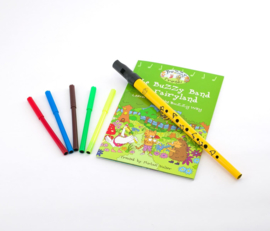 Clarke Buzzy Friends Pack - Tin Whistle + Kleurboek + Stiften