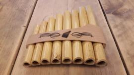 Schwarz bamboe panfluit - 8 pijpjes - C tot C