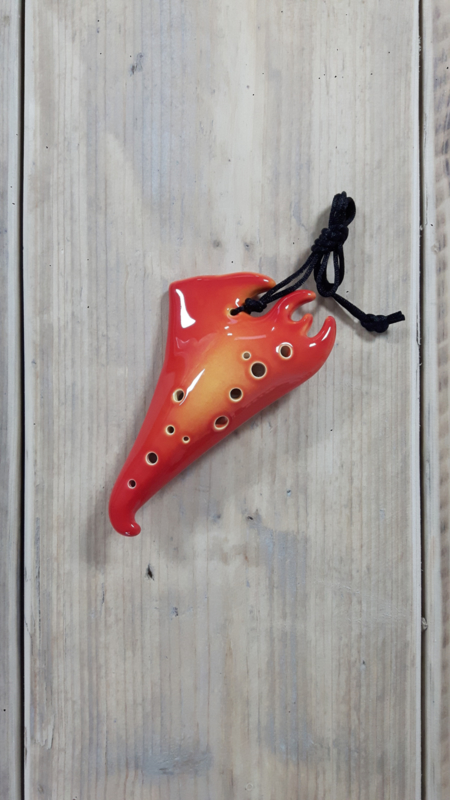 STL Element Fire Ocarina - Alto G - 12 holes - Ceramic