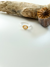 Ring: zilver/gold plated/citrine