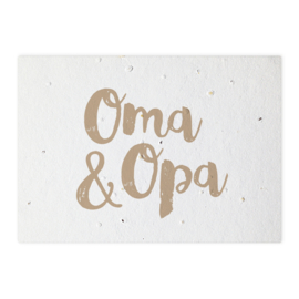Groeikaart Oma & Opa