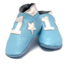 Baby Dutch babyslofjes lichtblauw nr 1