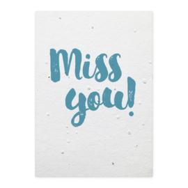 Groeikaart Miss you