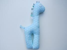 Giraf knuffel mintgroen kleine sterren wit