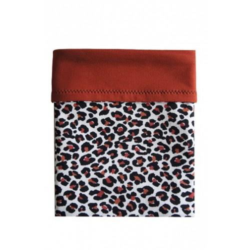 Couveusedoek leopard roest maxi
