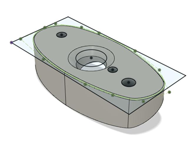 3D tekening zijspiegel connect Mazda