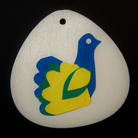 Sticker snijden Vogel van Esther