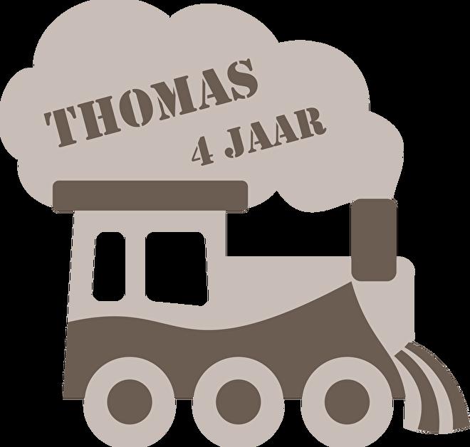 Traktatie Thomas 4 jaar ontwerp