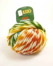 Adriafil - ASSO - kleur 65 WIT GEEL ORANJE GROEN BLAUW - Tropical