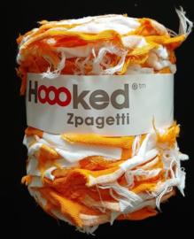 HOOKED - ZPAGETTI ORANJE/WIT