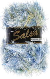 Lammy Yarns - Salsa 610 - Blauw groen gemeleerd