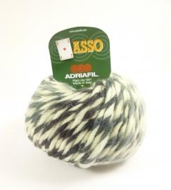 Adriafil - ASSO - kleur 64 WIT ZWART GRIJS - Taiga