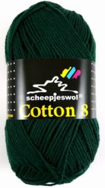 Scheepjes - Cotton 8 kleur 713 donker groen   OP=OP