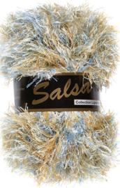 Lammy Yarns - Salsa 623 - Licht blauw bruin gemeleerd