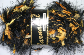 Lammy Yarns - Carnaval 606 - Zwart met geel, oranje en bruin