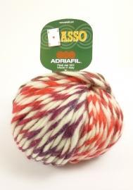Adriafil - ASSO - kleur 63 WIT ORANJE ROODPAARS - Savannah