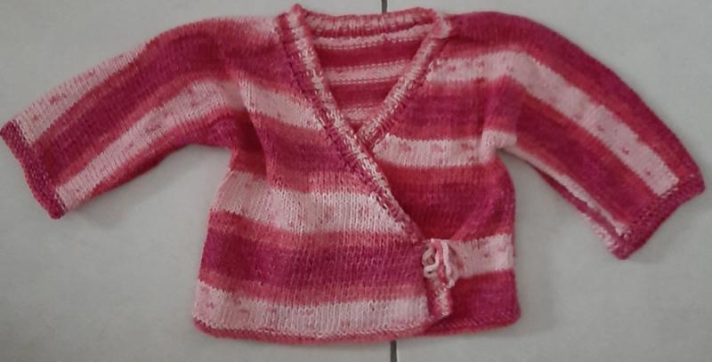 Roze vestje met lange mouw