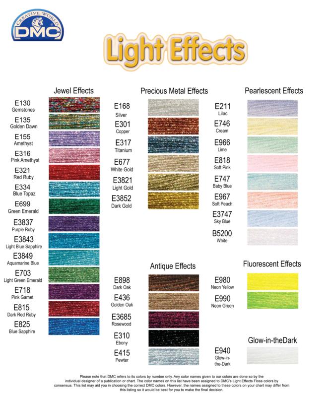 DMC - ! Effect Lumiere - Kleurkaart