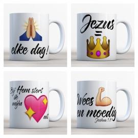 Emoji Bijbelmok Set (4 stuks)