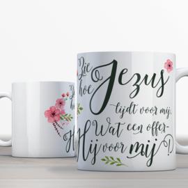 Quotes en Uitspraken Bijbelmok met Zie hoe Jezus lijdt voor mij