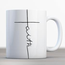 Bijbelmok 'Faith' kruis