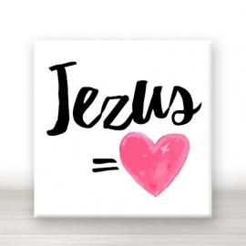 tegel Jezus is liefde