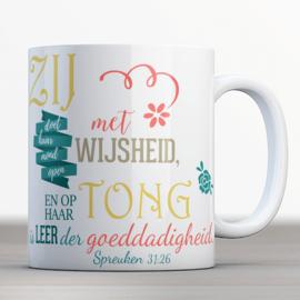 Bijbelmok met Spreuken 31:26