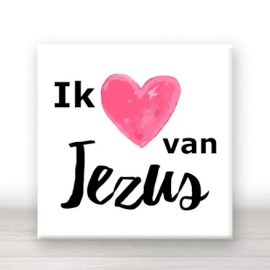tegel ik hou van Jezus