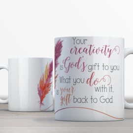 Quotes en Uitspraken Bijbelmok Your creativity is God's gift
