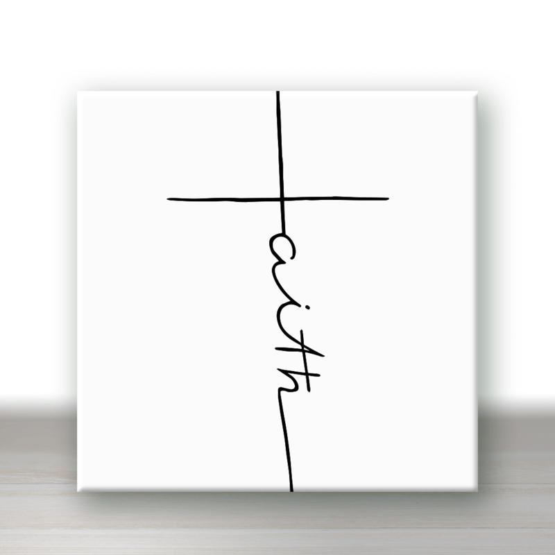 Tegel 'Faith' kruis