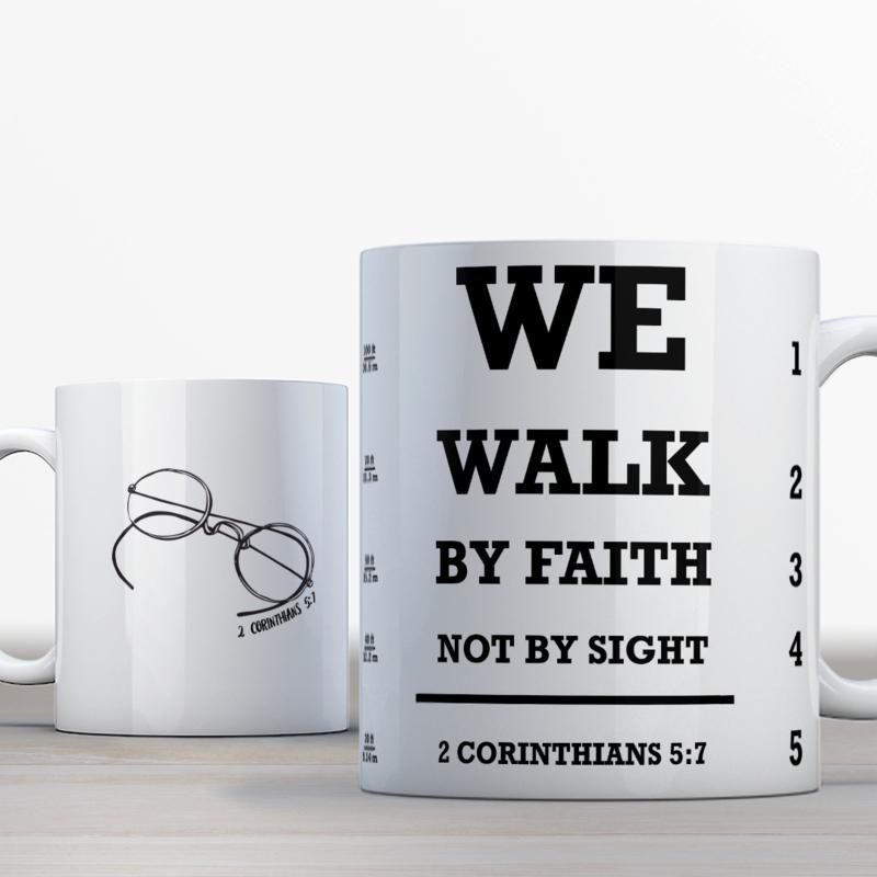 Vers Bijbelmok 2 Corinthians 5:7 SV Snellen Versie (EN)