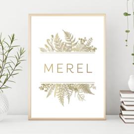Poster planten goud (digitaal)
