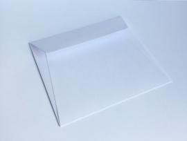 Omslagen vals vierkant formaat 130 x 120mm - wit (per 10stuks)