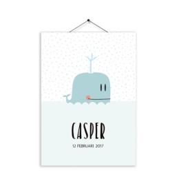 Kaartje Casper walvis